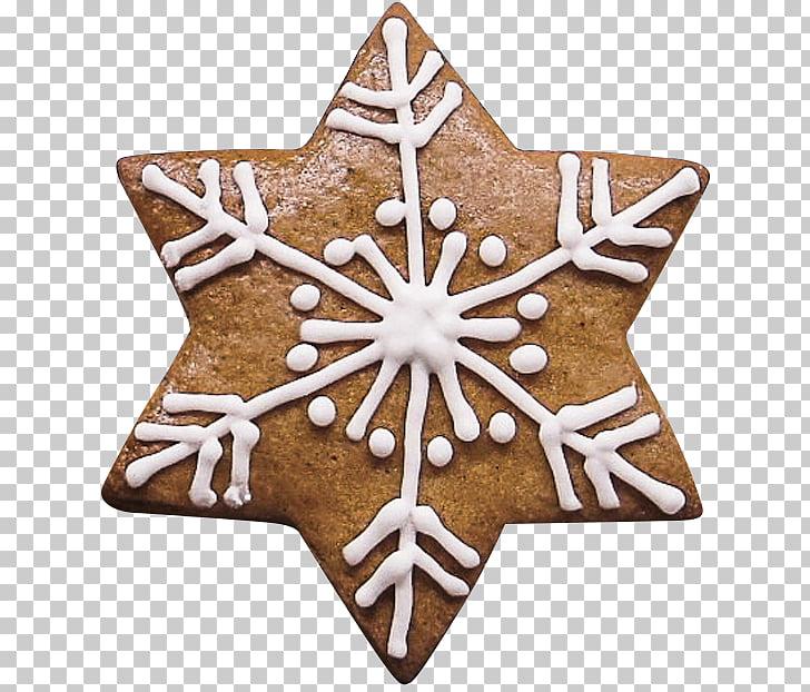 Lebkuchen cookie snowflake.