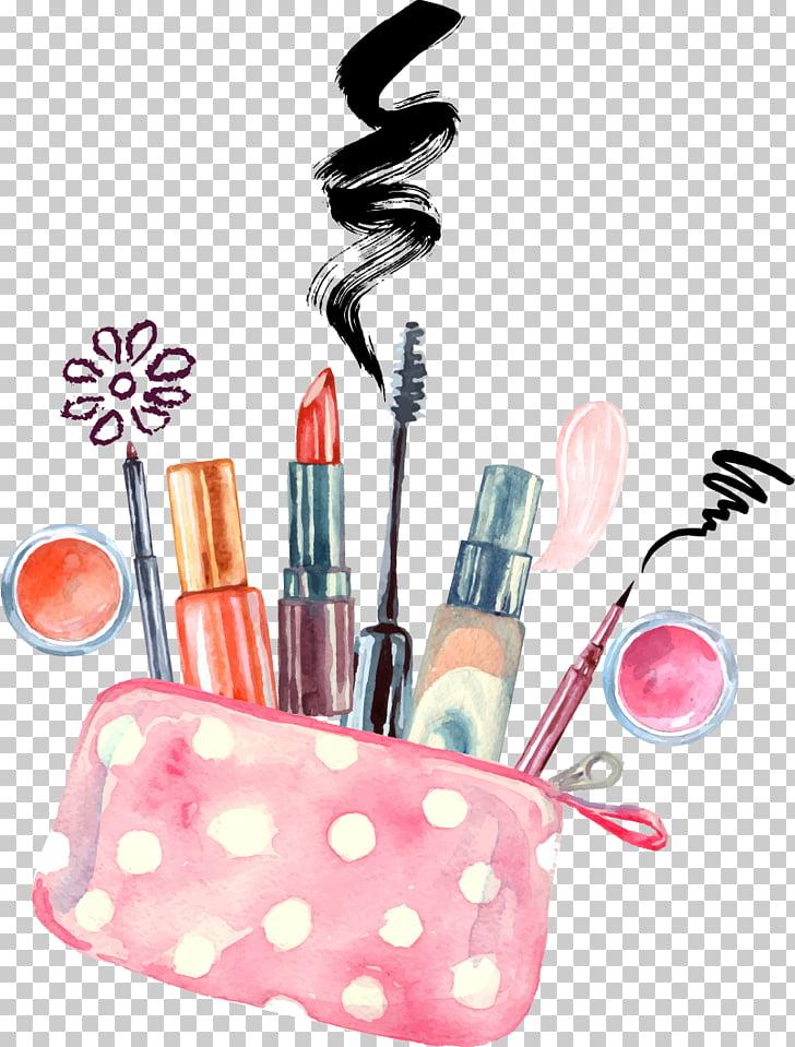 Cosmetics Watercolor painting Make
