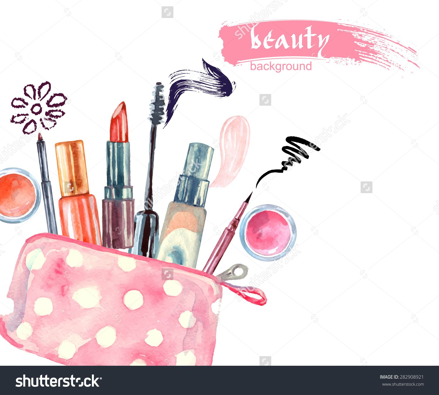 Ladies makeup clipart.