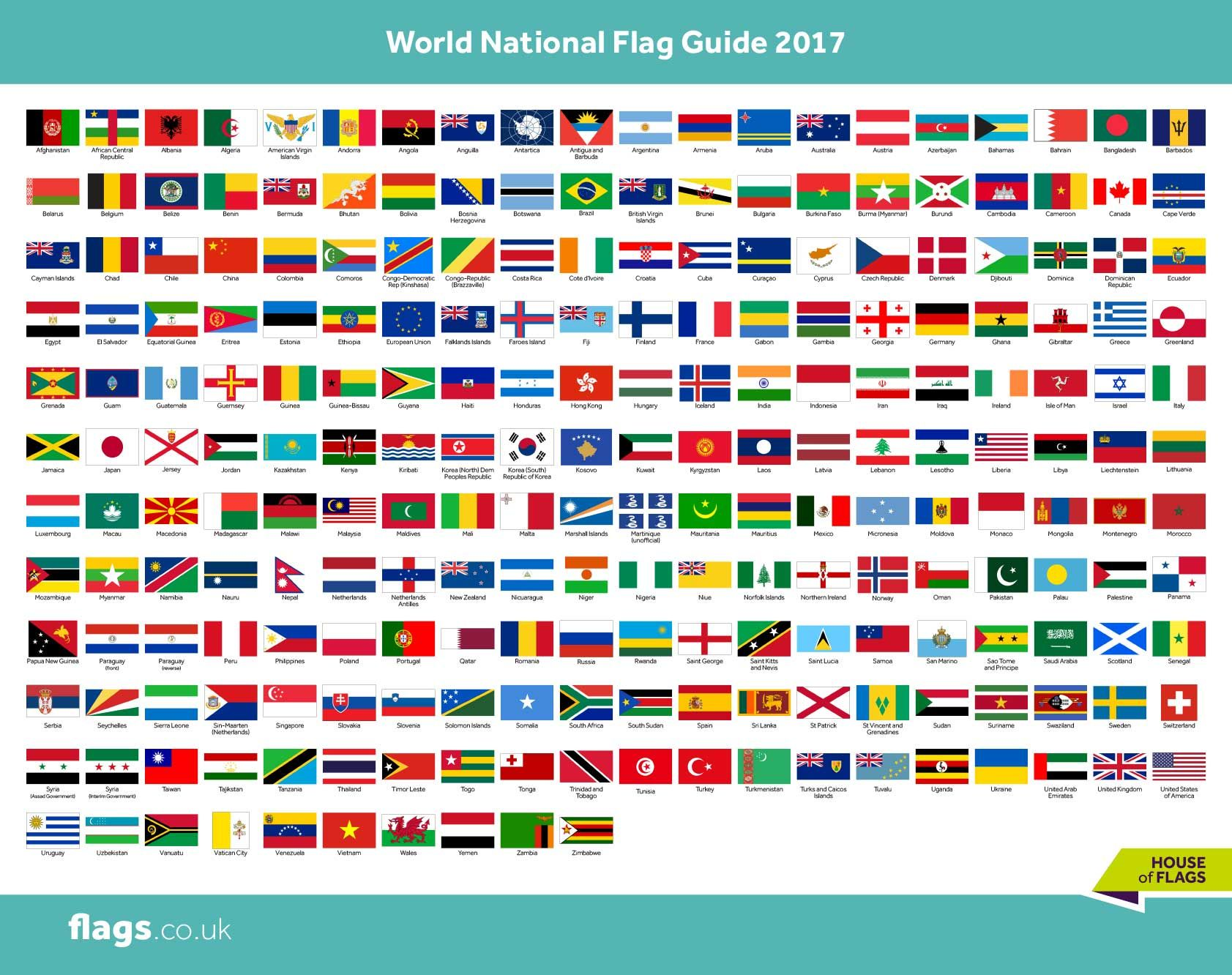 Pin on national flags.