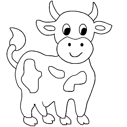 Cow coloring pages.
