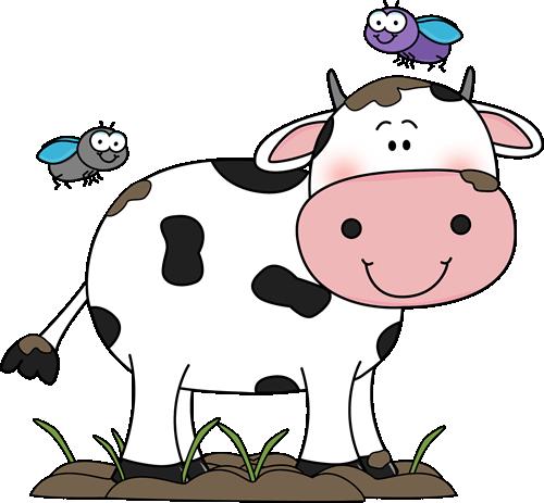 Cute cow clip.