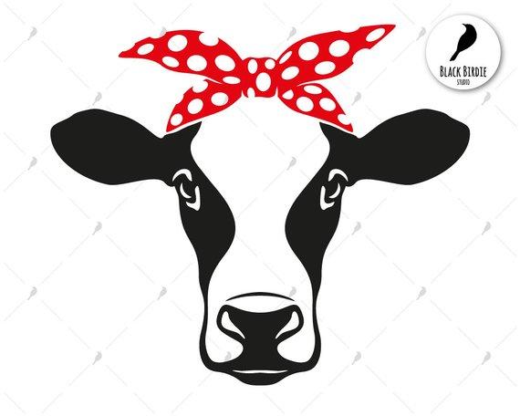 Cow head bandana.
