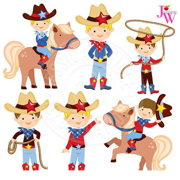 Cute cowboy clipart.
