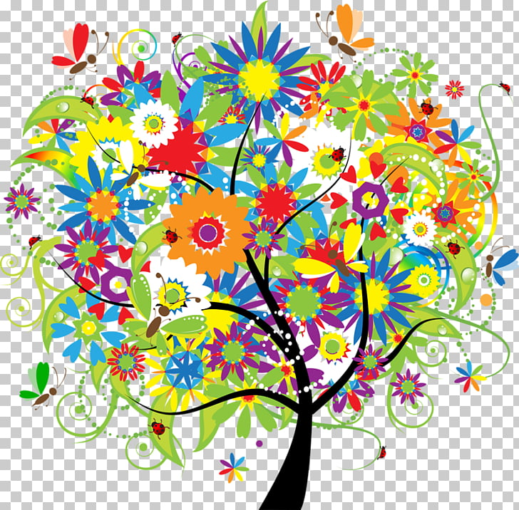 Creativity , Colorful tree PNG clipart
