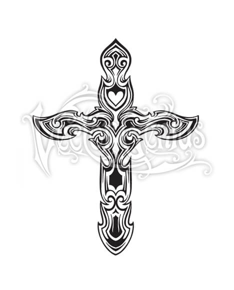 Decorative christian cross.