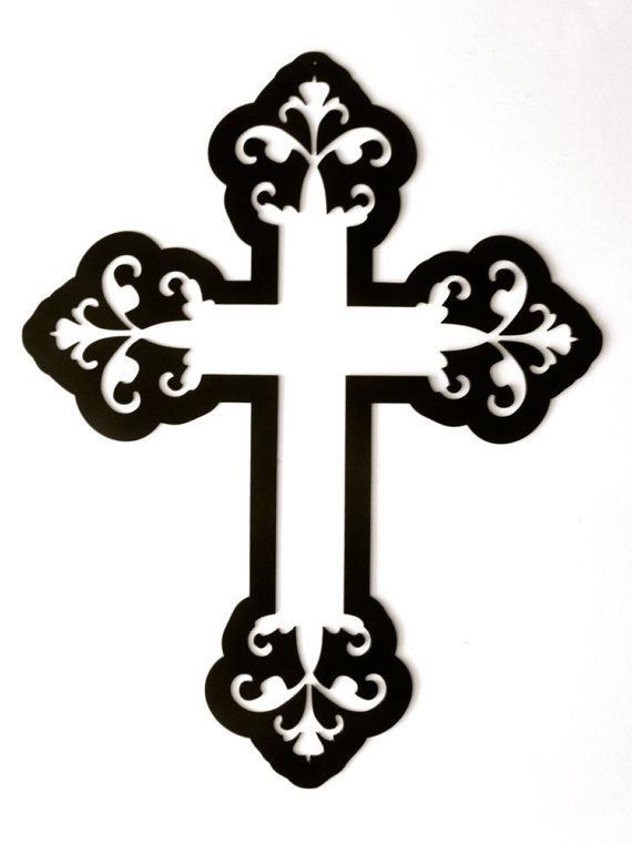 Fancy cross clipart.