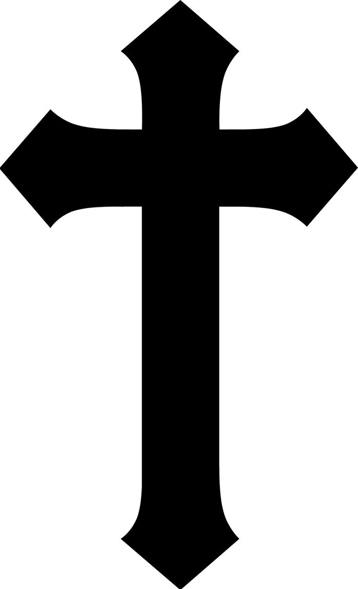 Simple christian cross.