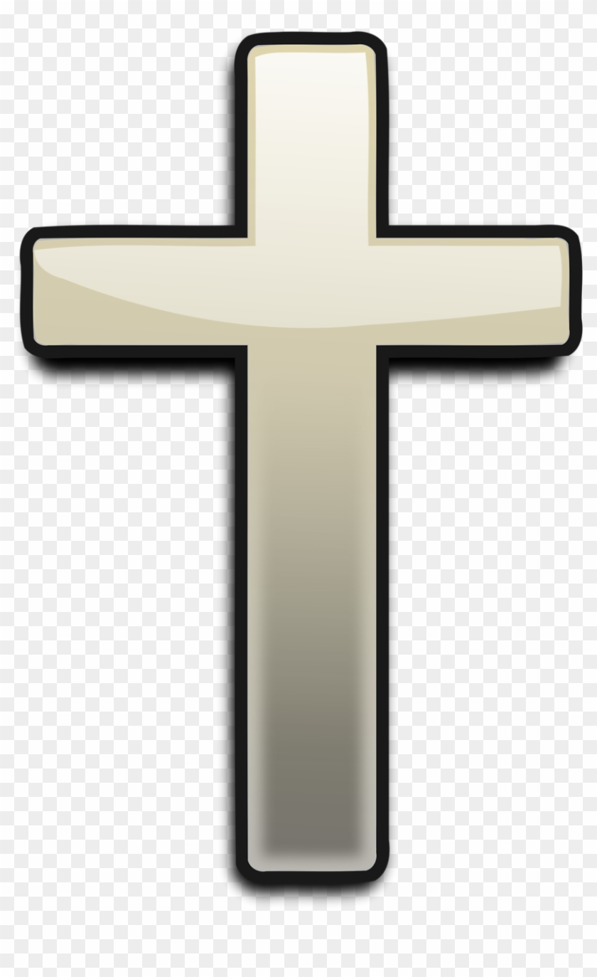 Black christian cross.