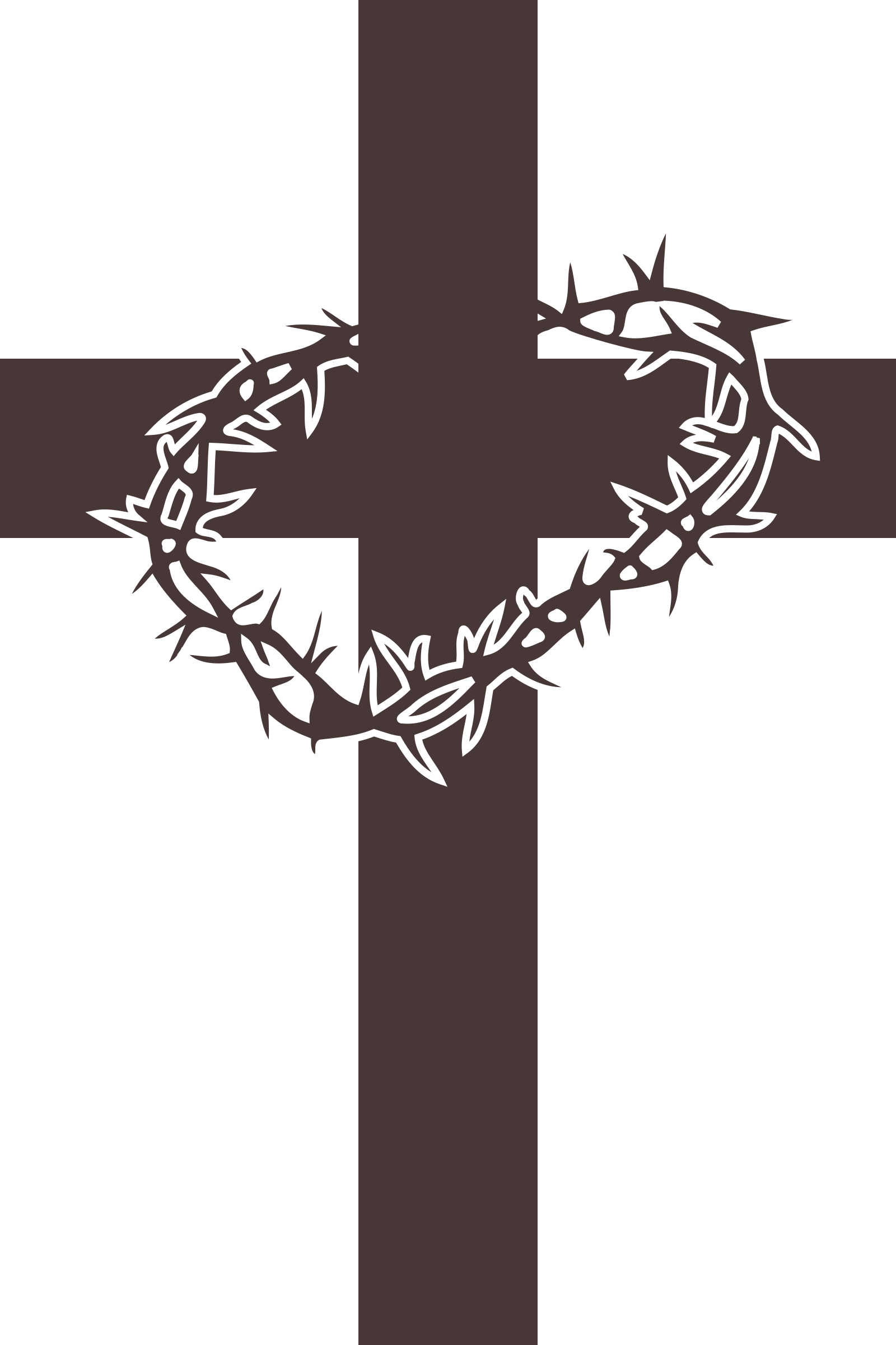 Cross and thorns.
