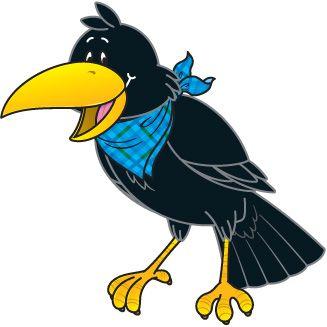 crow clipart autumn