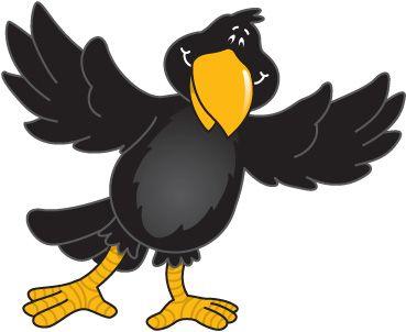 crow clipart cartoon