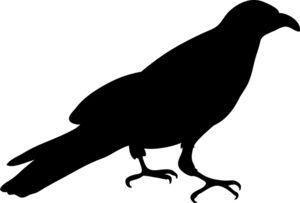 crow clipart halloween