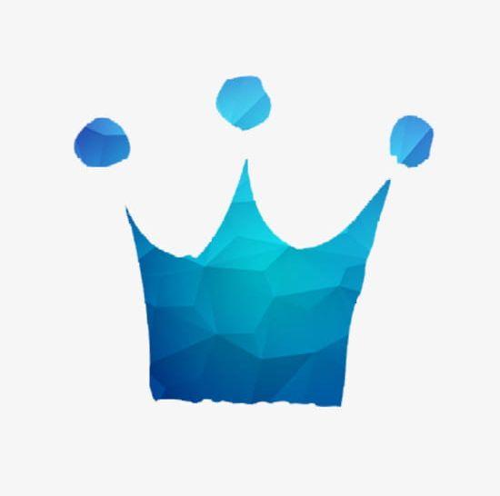 Blue crown material.