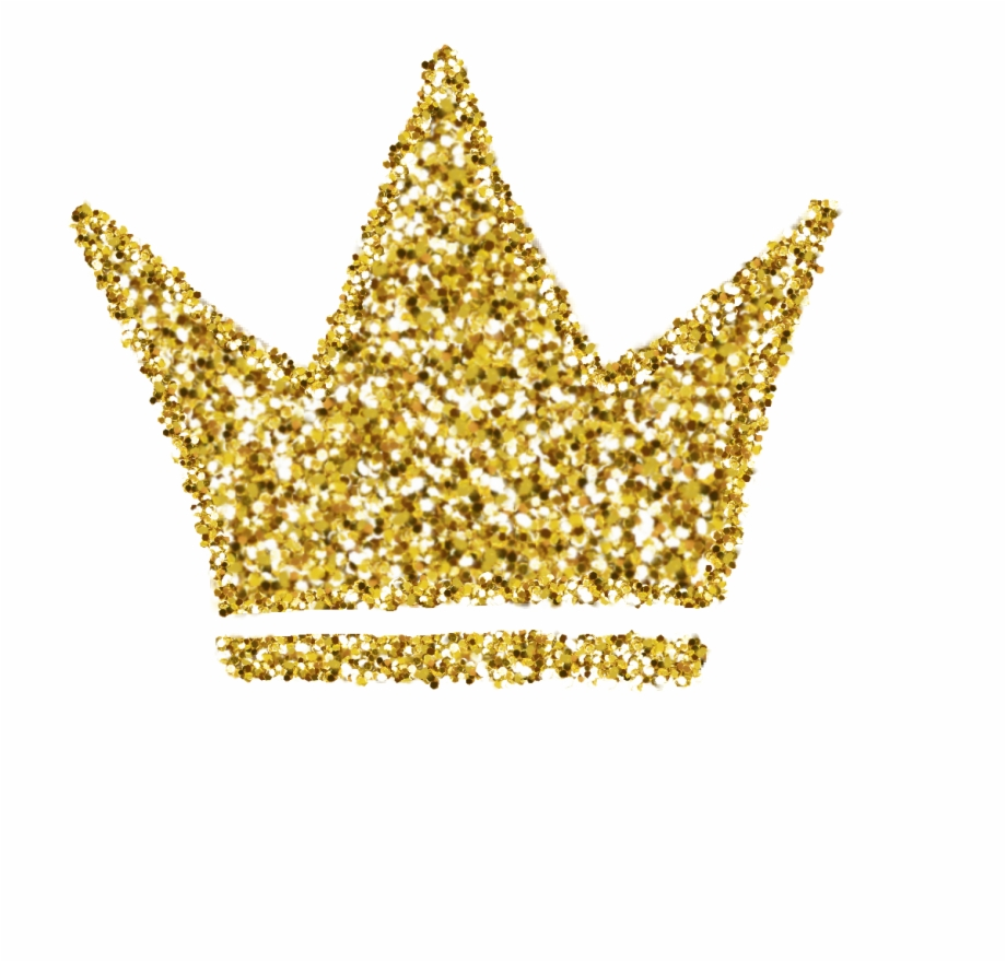 Gold glitter crown.
