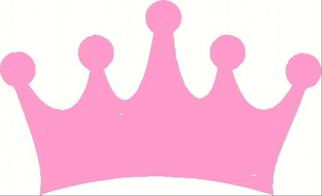 Pink princess crown.
