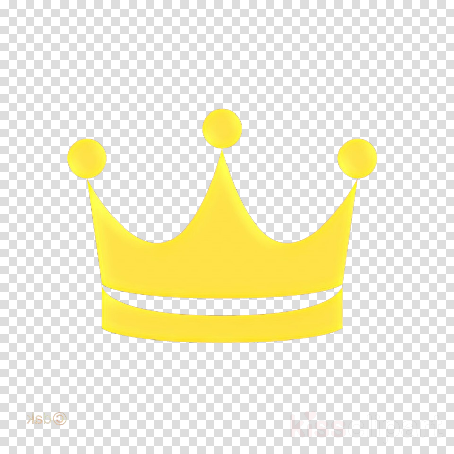 Crown clipart yellow.