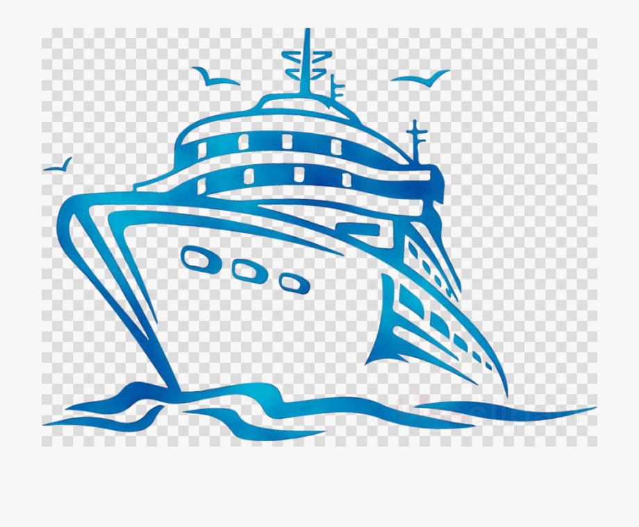 Disney cruise ship clipart.