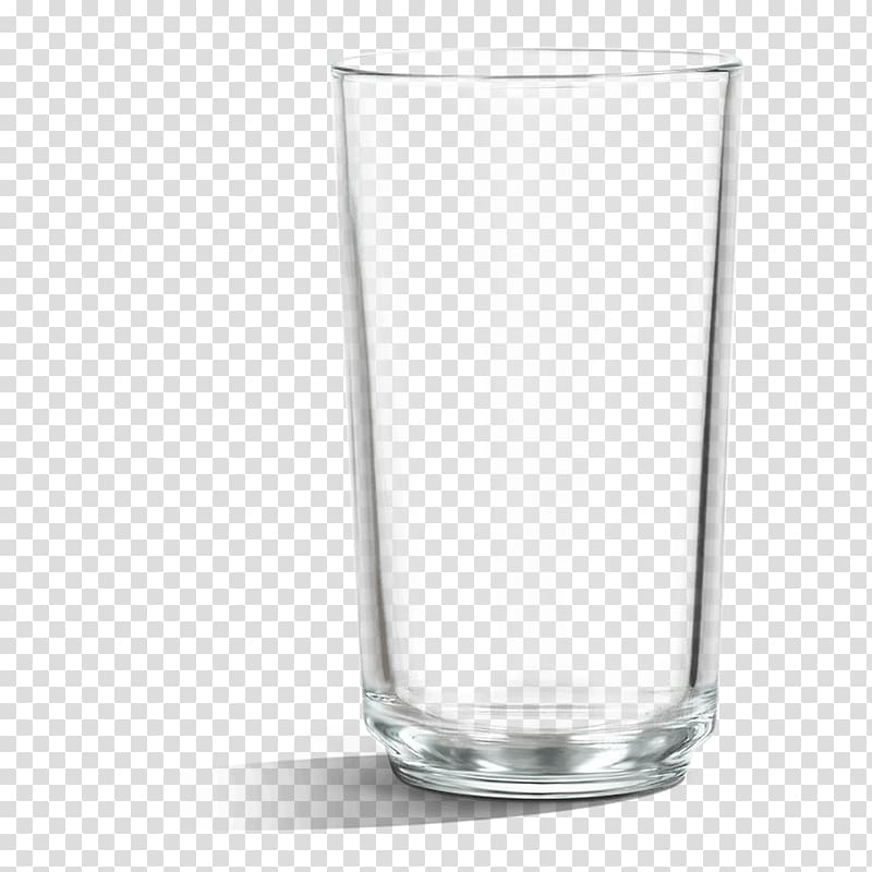 Clear drinking glass.