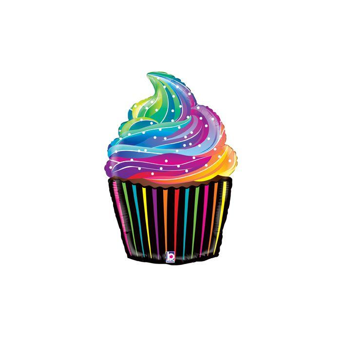 27 rainbow cupcake.