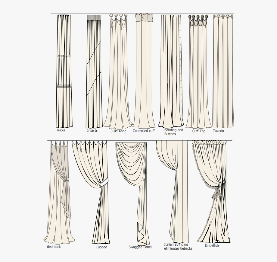 Drawing curtains blind.