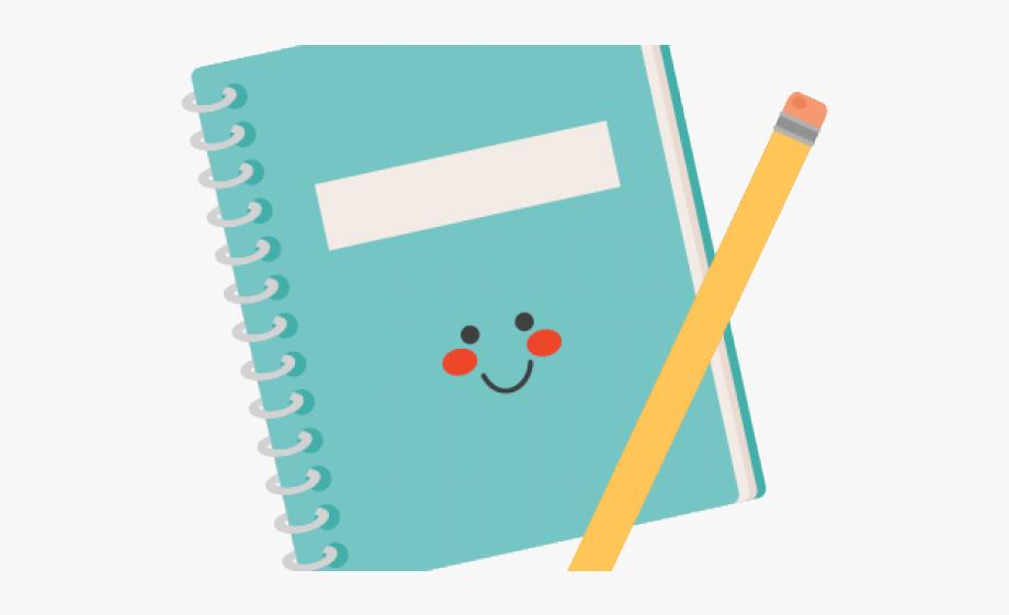 Notebook clipart cute.
