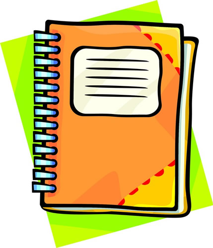 Collection notebook clipart.