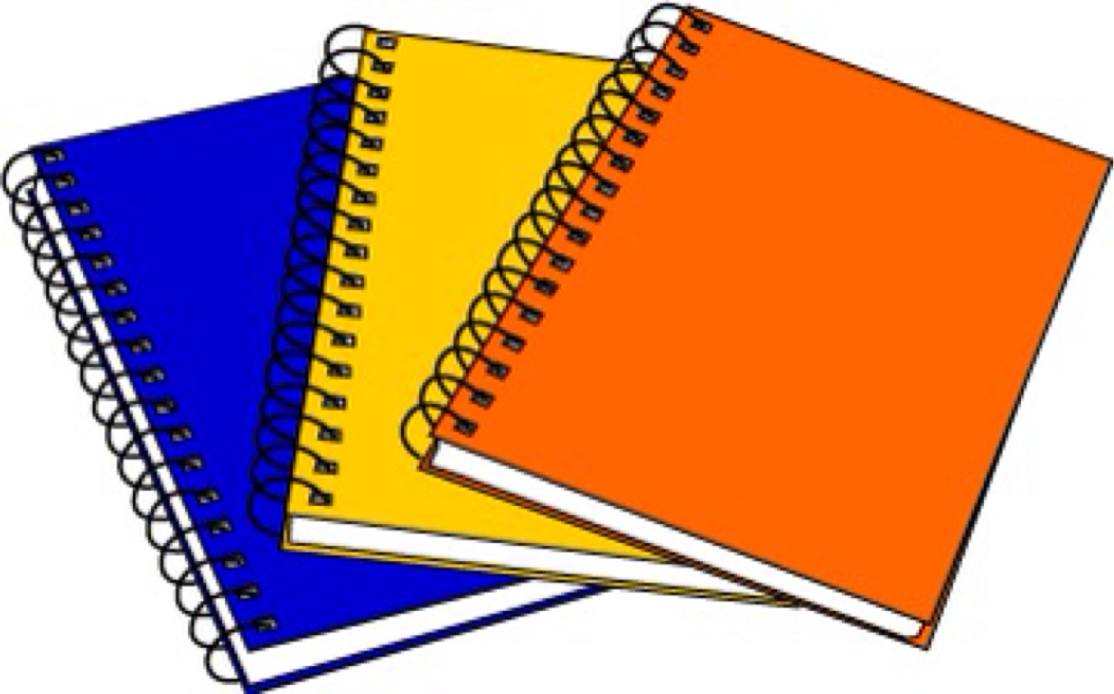 Notebooks clipart free.