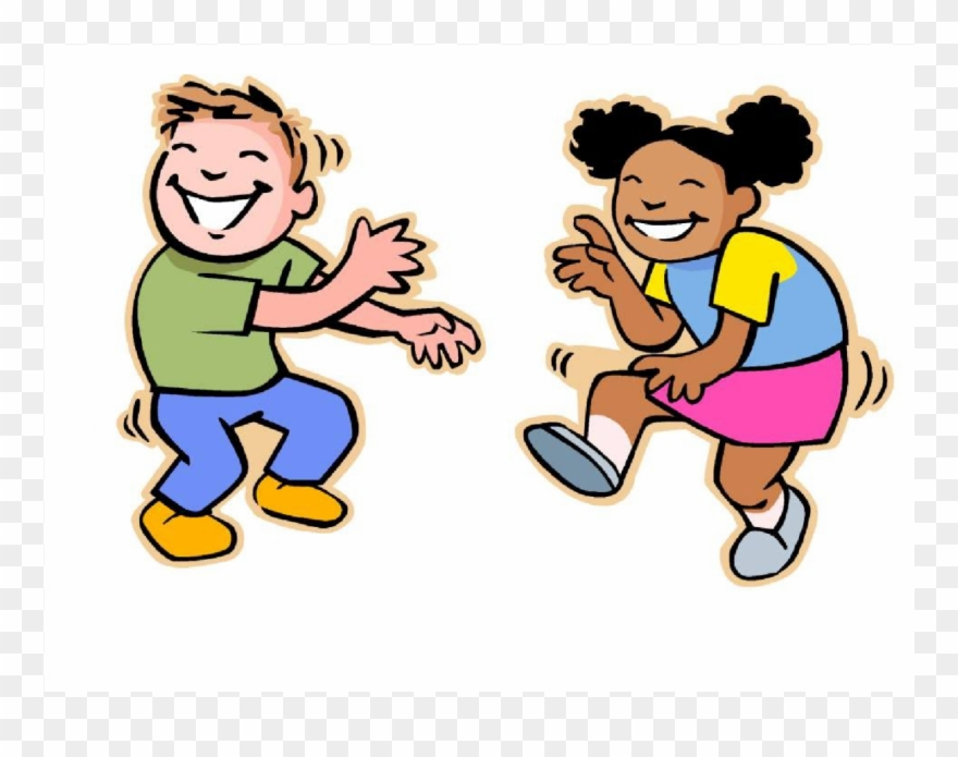 Children dancing clipart.