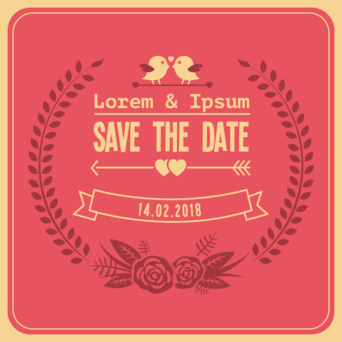 Free Wedding Save The Date Vector
