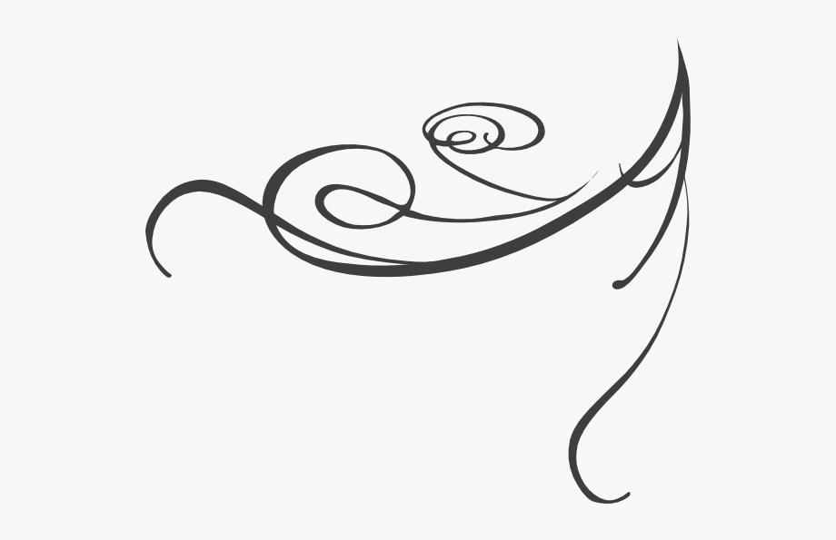 Line decorative swirl.