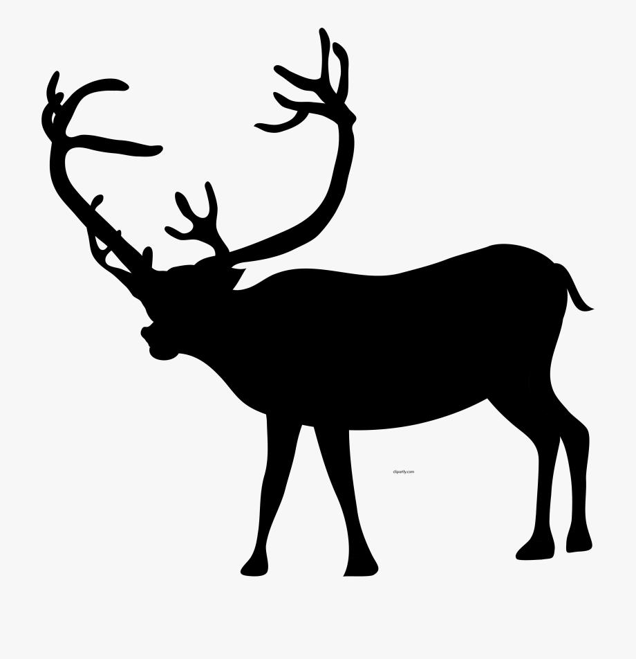 Christmas Black Color Deer Clipart Png