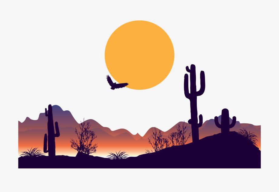desert clipart vector