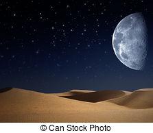 desert clipart night