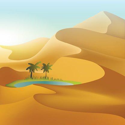 desert clipart oasis