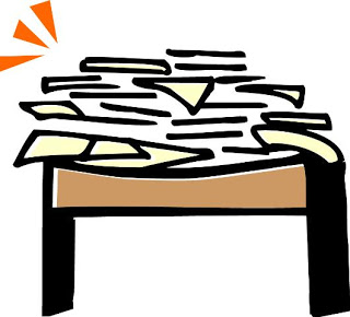 Messy table clipart.