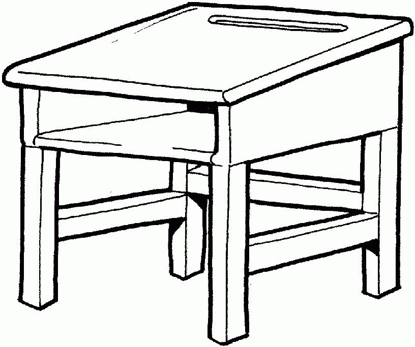 And White Desk Clipart Lovely Black And White Desk