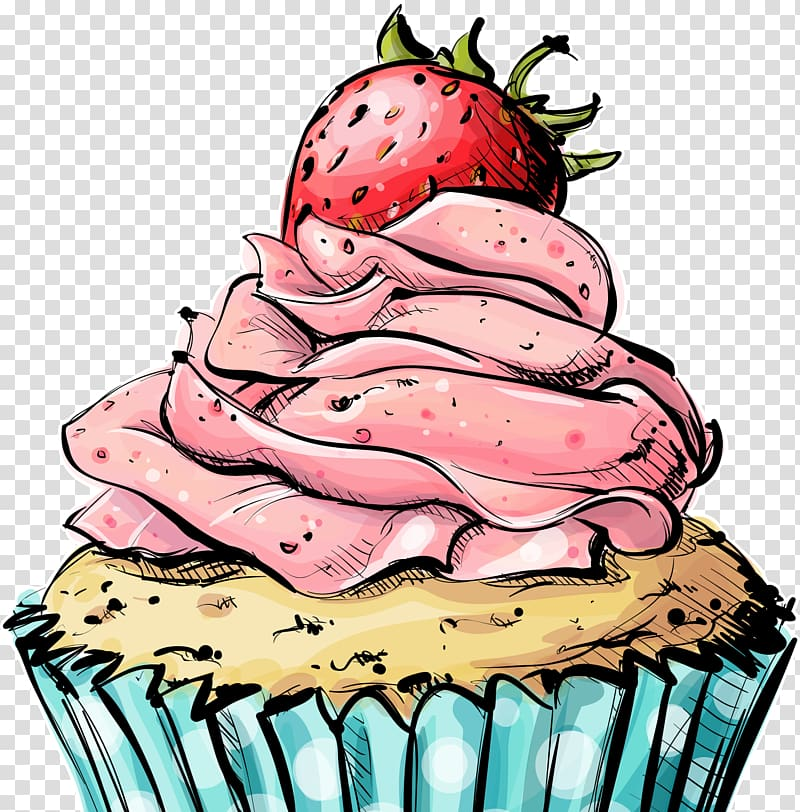 dessert clipart retro