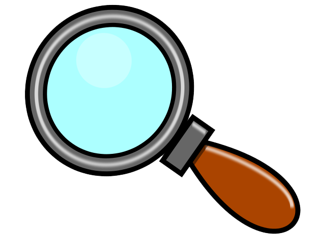 Detective clipart magnifying.