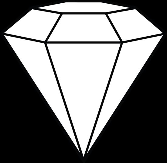 Diamond line art.