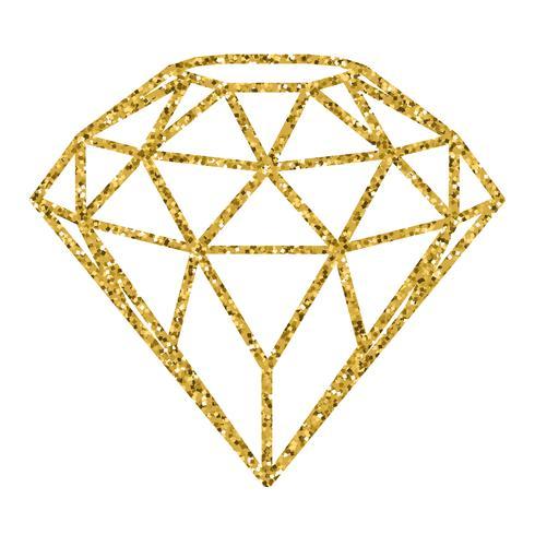 Geometrical golden glitter.