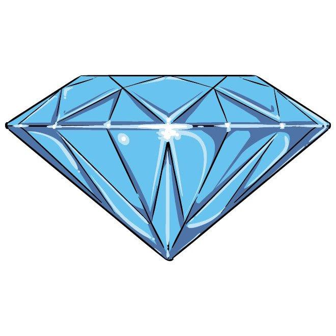 Diamond vector cliparteps.