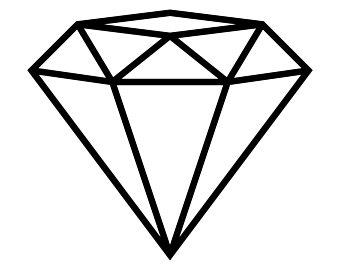 Diamond black and.