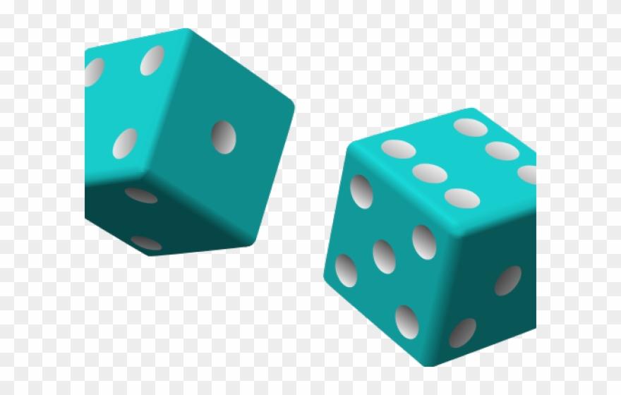 Colored dice clip.