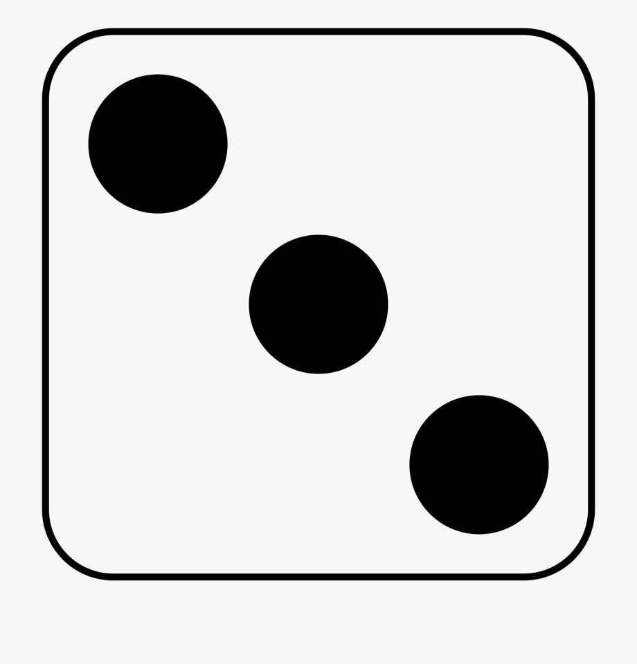 Number dice clipart.