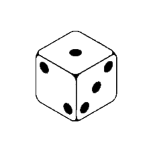 One dice clipart.