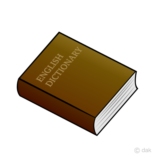 English dictionary clipart.