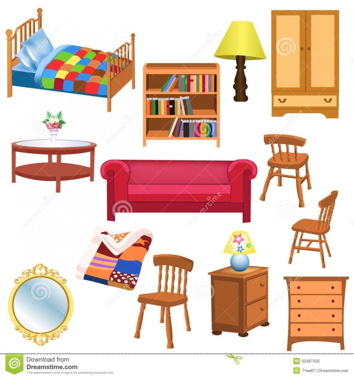 Clipart bedroom living.