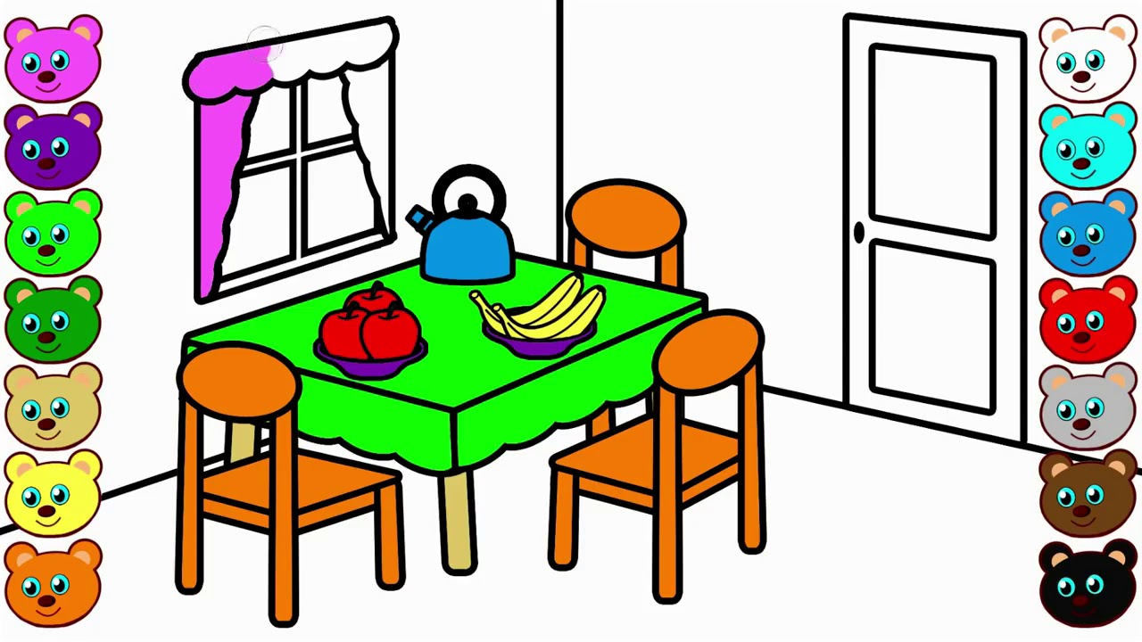 Download Dining Room Clipart PNG - Green Home Petr