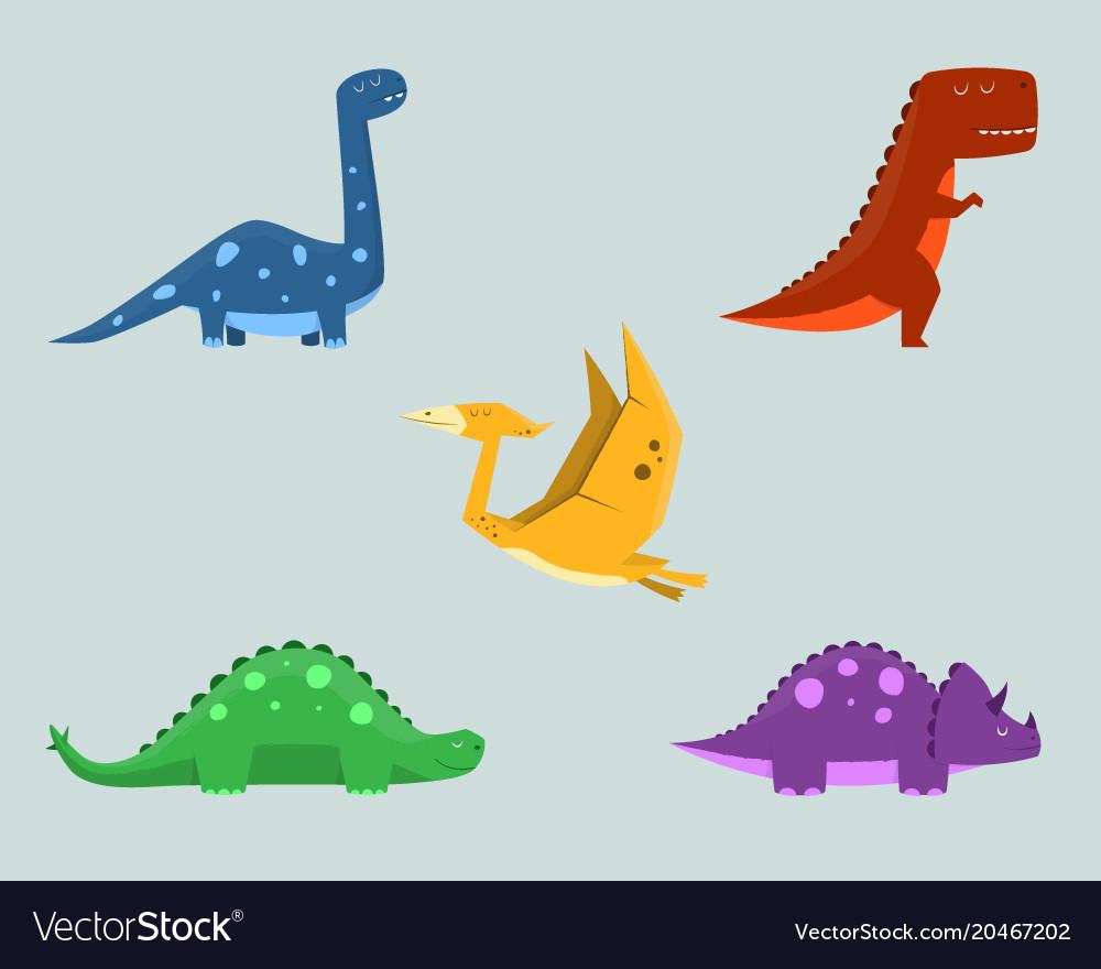 Dinosaur clipart set.